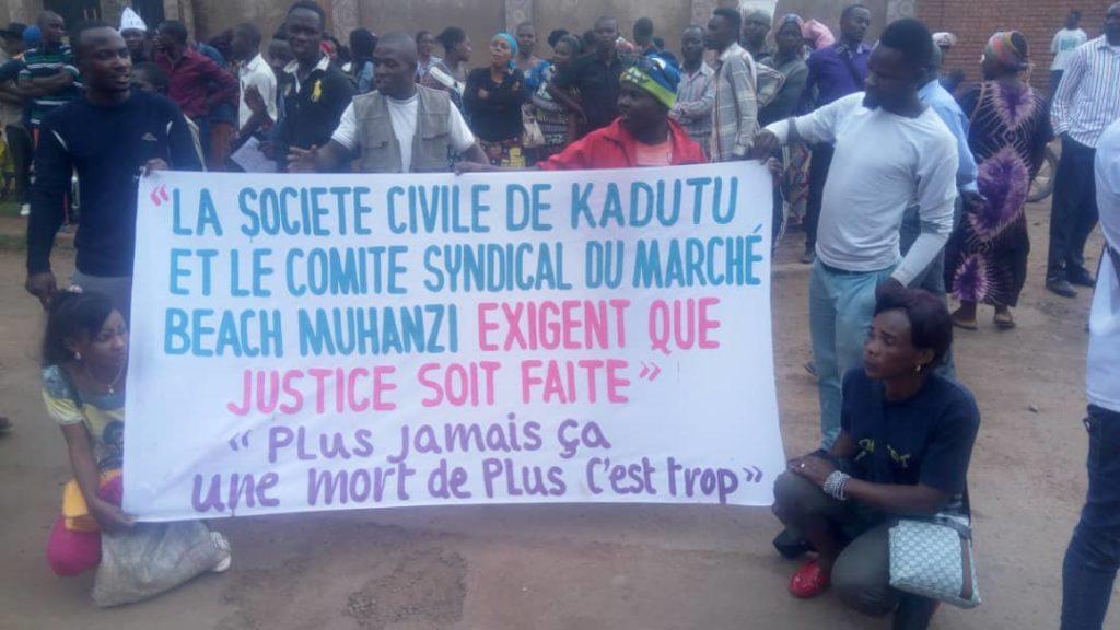 Fusillade du marché Bondeko à Bukavu: La Société Civile exige à l'auditorat militaire que justice soit faite