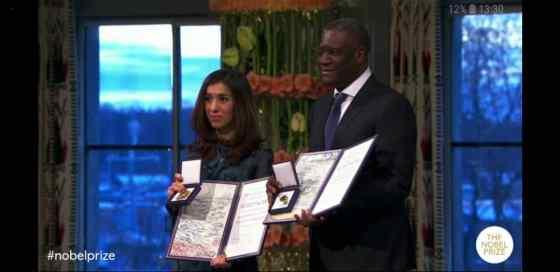 Prix Nobel de la paix: Denis Mukwege récompense à Oslo pour combat en faveur des femmes victimes de viols et de violences sexuelles