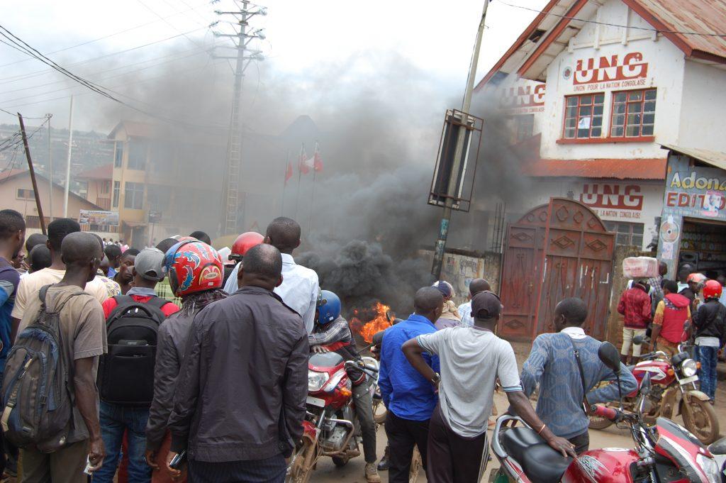Bukavu: Les militants de l'Unc manifestent contre un probable report de la publication des résultats définitifs ce vendredi