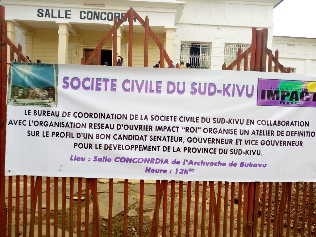 Bukavu : la société civile inscrit un certain nombre des critères au profil d'un bon candidat Gouverneur et Sénateur