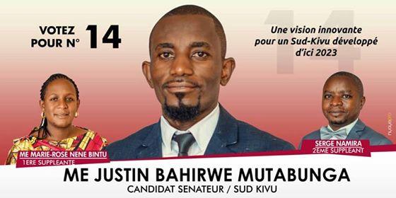 Maître Justin Bahirwe salut la proclamation des sénateurs élus en province du Sud-Kivu