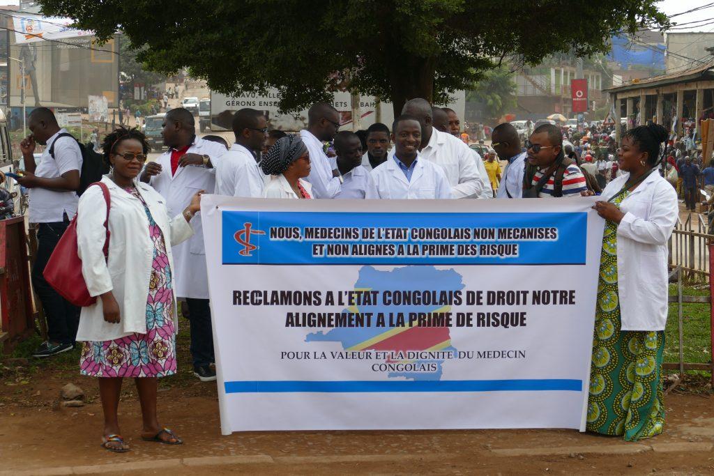 Sud-Kivu : Le collectif des médecins de l'Etat plaide pour sa mécanisation et le payement de la prime de risque