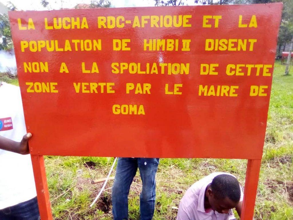 Goma/Spoliation de zones vertes : la Lucha met en garde la Mairie
