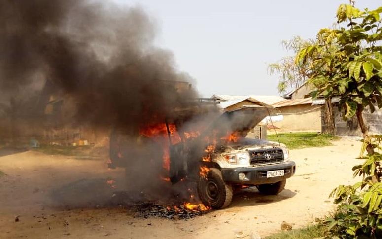 Beni : mort d'un taximan, une jeep de l'équipe de riposte contre Ebola incendiée