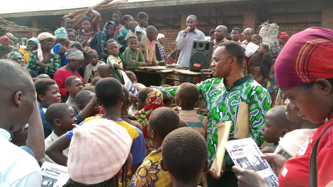 Ebola/Bukavu : KJN appelle les vendeurs du marché de Ciriri à observer les mesures d'hygiène