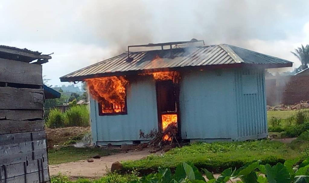 Béni: Le bureau de PNC incendié au quartier Kalinda à béni après meurtre d'un taximan