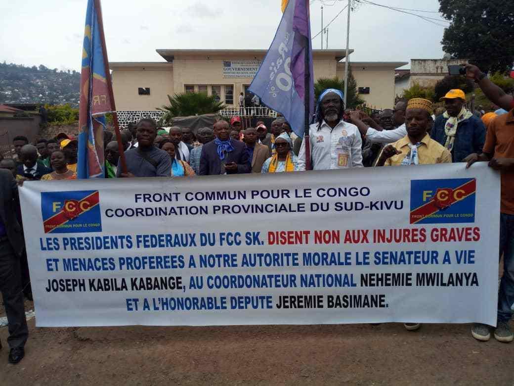 Sud-Kivu : Après des menaces proférées contre J. Kabila et Néhémie M., le FCC sort de son silence