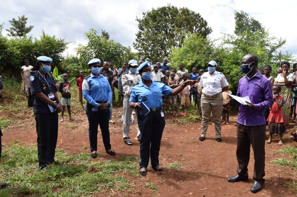 Sud-Kivu: Des habitants de Mbobero sensibilisés pour lutter contre le Coronavirus par le RFU de la MONUSCO