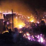 Incendie/Bukavu : Une personne brûlée et une soixantaine des maisons parties en fumée sur avenue Funu 1er