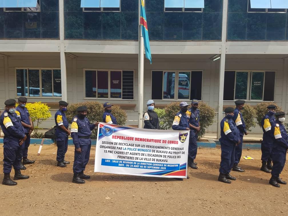 Sud-Kivu : L'UNPOL de la MONUSCO forme des policiers des frontières sur les renseignements généraux