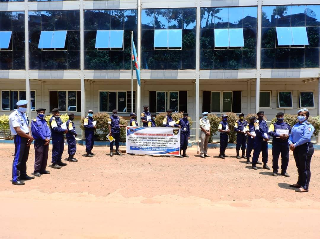 Sud-Kivu : La MONUSCO clôture la formation sur les renseignements généraux au profil de la police des frontières