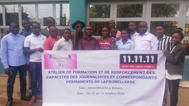 Sud-Kivu: LaprunelleRDC renforce les capacités de ses journalistes et correspondants