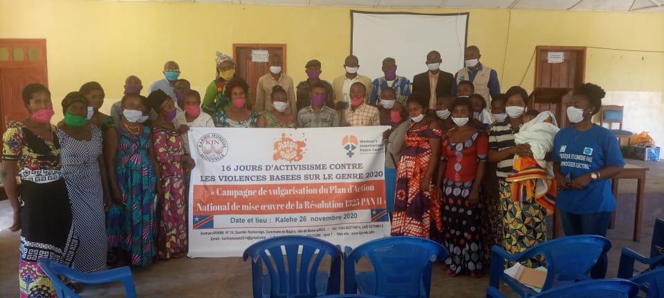 Sud-Kivu : Des habitants de Kalehe sensibilisés sur la résolution 1325 par l'organisation KJN