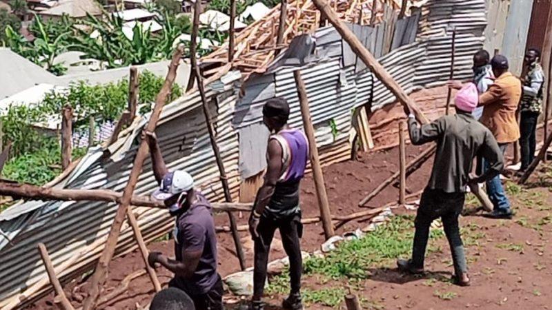 Bukavu : Démolition des maisons érigées anarchiquement aux cimetières de Ruzizi ce samedi 28 novembre