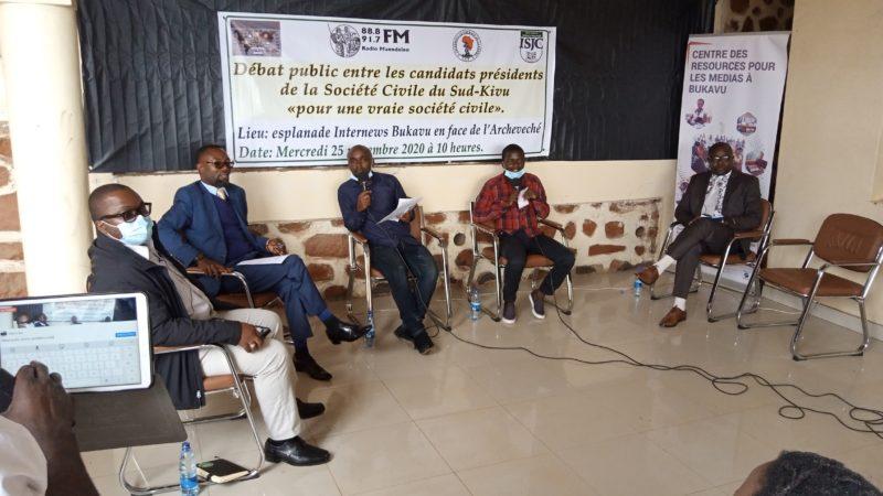 Sud-Kivu : Des candidats présidents à la tête du bureau de coordination de la société civile en débat public