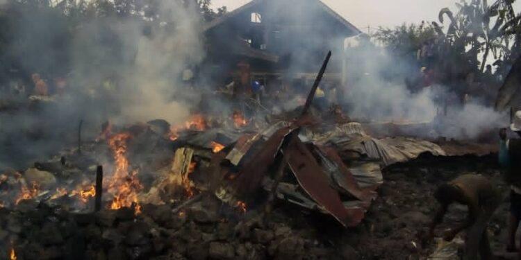 Goma : Un incendie fait état de quatre maisons consumées et plusieurs biens endommagés (bilan provisoire)