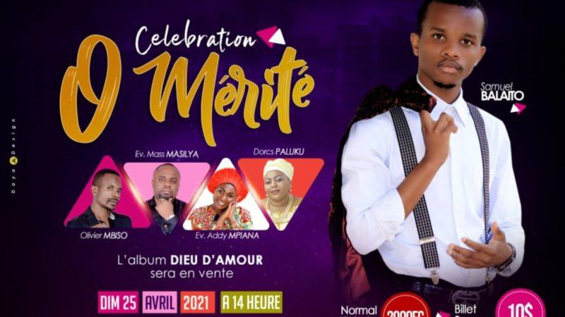 """Bukavu : Samuel BALAITO annonce le lancement de son album """"Dieu d'amour"""" ce 25 avril dans un concert"""