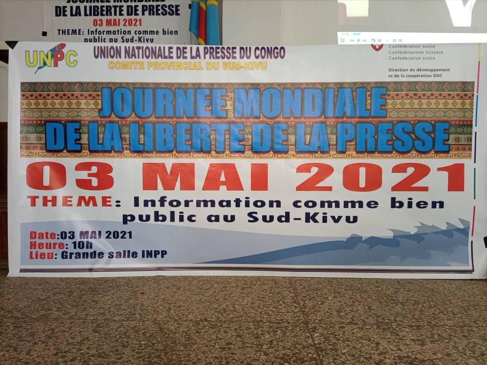 J.M de la Liberté de la presse : les journalistes du Sud-Kivu plaident pour la mise en application de l'édit portant leur protection en province