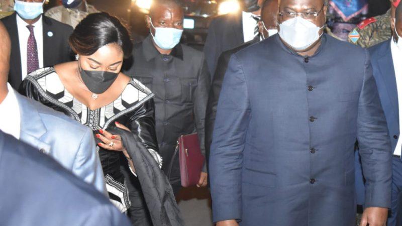 Nord-Kivu: Félix Tshisekedi accueilli dans la ville Volcanique en compagnie de sa femme