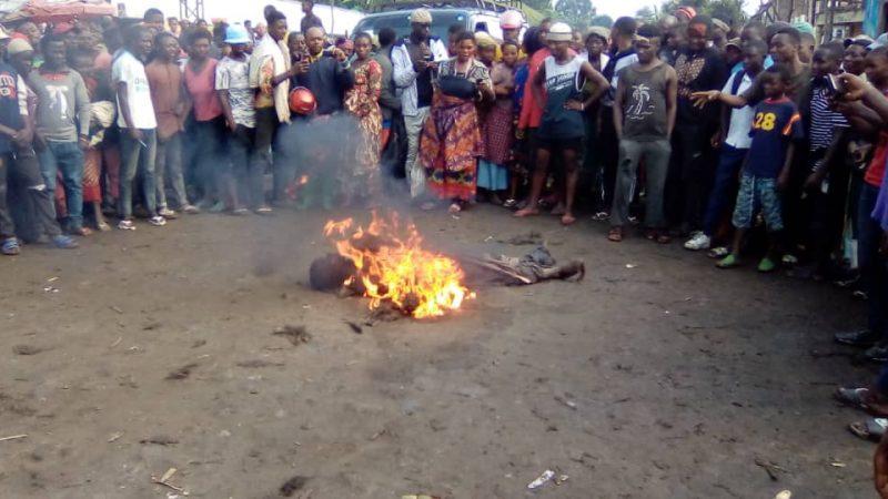 Justice populaire à Kabare: Un présumé voleur brulé vif par la population en colère à Mudusa