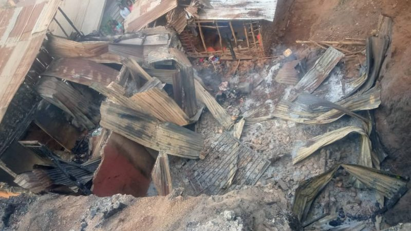 Bukavu: 4 maisons calcinées et 7 autres endommagées dans un nouvel incendie notifié à muhungu