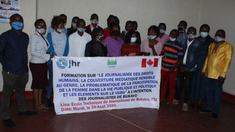 Bukavu: JDH forme une vingtaine des Journalistes sur la couverture médiatique sensible au Genre