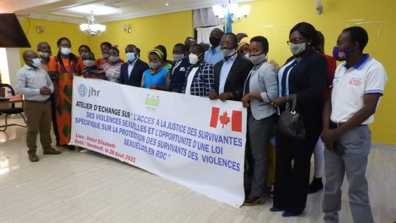 Bukavu: une loi spécifique sur la protection des survivantes des violences sexuelles parmis les résultats attendus d'un atelier animé par JDH